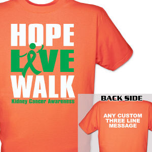 Hope Live Walk Kidney Cancer Awareness T-Shirt
