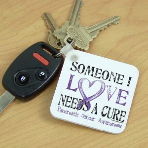 Needs A Cure Pancreatic Cancer Awareness Key Chain