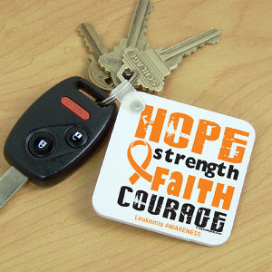 Leukemia Awareness Key Chain