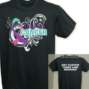 Thyroid Cancer Awareness Ribbon T-Shirt