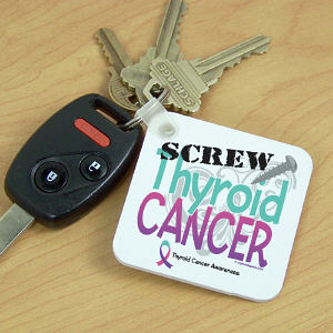 Screw Thyroid Cancer Key Chain