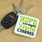 Lymphoma Hope Strength Faith Courage Awareness Key Chain