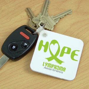 Hope Lymphoma Cancer Awareness Key Chain