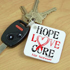 Hope Love Cure AIDS Awareness Key Chain