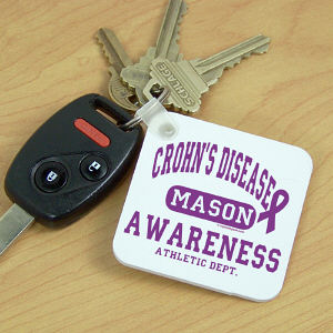 Crohns Disease Awareness Key Chain
