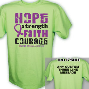 Crohn's Disease Hope Awareness T-Shirt