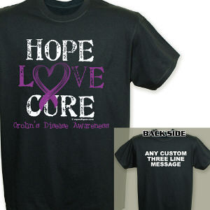 Hope Love Cure Crohn's Disease Awareness T-Shirt