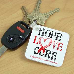 CHD Hope Awareness Key Chain