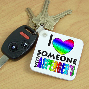 Love Someone With Asperger's Key Chain