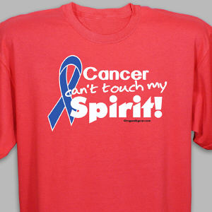 Blue Hope Ribbon Awareness T-Shirt