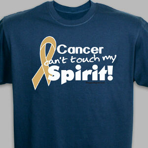 Gold Hope Ribbon T-Shirt