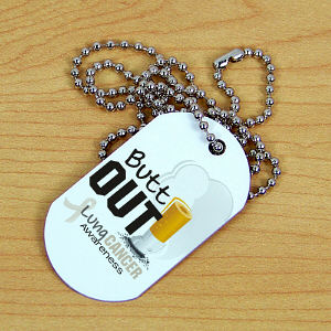 Lung Cancer Awareness Dog Tag