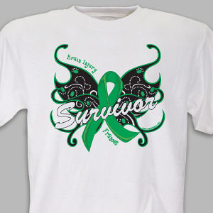 Brain Injury Butterfly Survivor T-Shirt