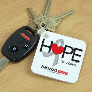 Parkinson's Hope for a Cure Key Chain