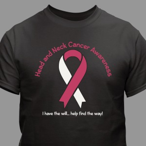 Head And Neck Cancer Awareness Ribbon T-Shirt