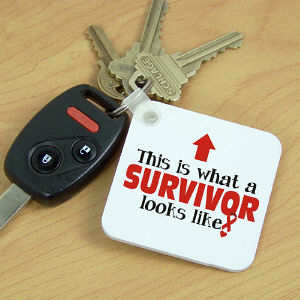 Cancer Survivor Key Chain
