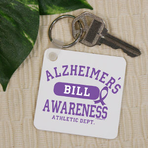 Alzheimer's Awareness Key Chain