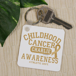 Childhood Cancer Awareness Athletic Dept. Key Chain