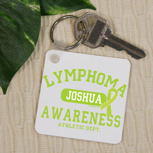 Lymphoma Awareness Key Chain