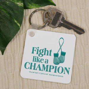 Ovarian Cancer Champion Key Chain