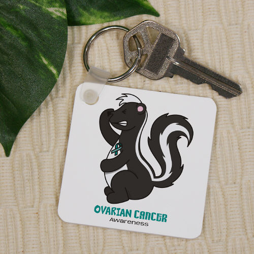 Ovarian Cancer Awareness Key Chain