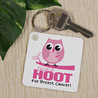 Give a Hoot Breast Cancer Awareness Key Chain 360330