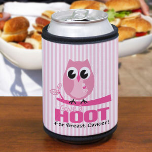 Give a Hoot Can Wrap Koozie