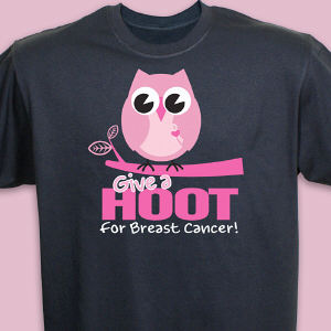 Give a Hoot Breast Cancer Awareness T-Shirt