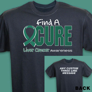 Find a Cure Liver Cancer Awareness T-Shirt