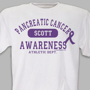 Pancreatic Cancer Awareness Athletic Dept. T-Shirt