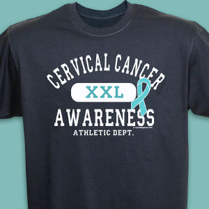 Cervical Cancer Awareness Athletic Dept. T-Shirt