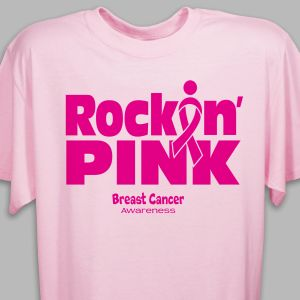 Rockin Pink Breast Cancer Awareness T-Shirt