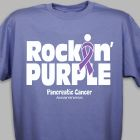 Rockin' Purple Pancreatic Cancer Awareness T-Shirt 37094X