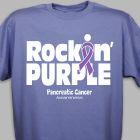 Rockin' Purple Pancreatic Cancer Awareness T-Shirt 37094X
