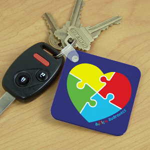 Autism Heart Key Chain