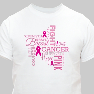 Breast Cancer Word-Art T-Shirt