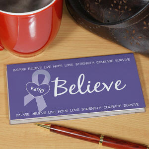 Personalized Epilepsy Awareness Checkbook Cover