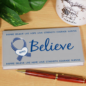 Personalized ALS Awareness Checkbook Cover