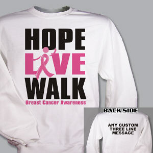 Personalized Breast Cancer Walk Sweatshirt