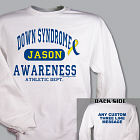 Personalized Down Syndrome Awareness Athletic Dept. Sweatshirt