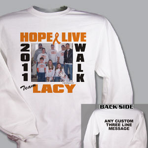 Multiple Sclerosis Walk Photo Sweatshirt