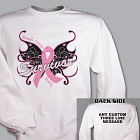 Butterfly Breast Cancer Survivor Sweatshirt 54302X