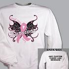 Butterfly Breast Cancer Survivor Sweatshirt 54302X
