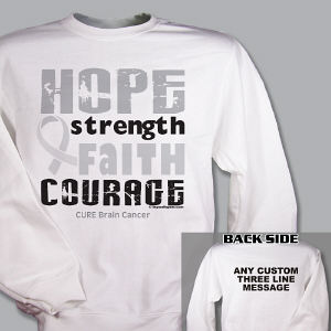 Cure Brain Cancer Sweatshirt