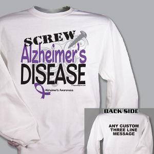 Screw Alzheimer's Disease Sweatshirt