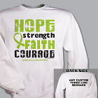 Lymphoma Hope Strength Faith Courage Awareness Sweatshirt