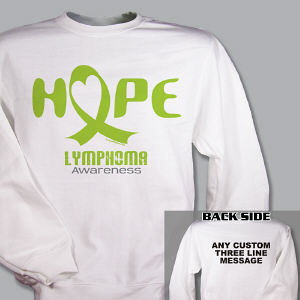Hope Lymphoma Cancer Awareness Sweatshirt