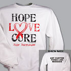 Hope Love Cure AIDS Awareness Sweatshirt