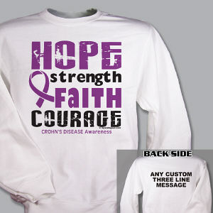Crohn's Disease Hope Awareness Sweatshirt