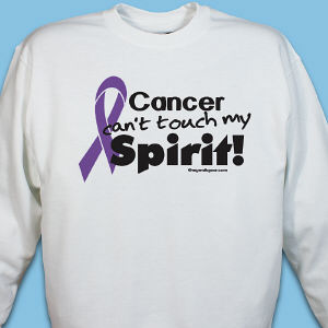 Purple Ribbon Awareness Sweatshirt